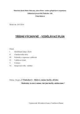 Mateřská škola, okres Brno – venkov, příspěvková - ms