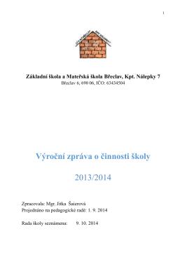 2013/2014 - ZŠ a MŠ Břeclav, Kpt. Nálepky 7