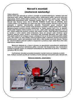 Návod k montáži (motorové nástavby)