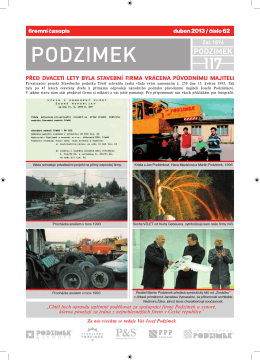 firemní časopis duben 2013 / číslo 62