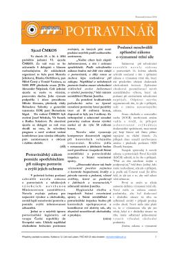 02/2014 - Nezávislý odborový svaz pracovníků potravinářského