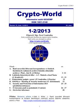 Sešit 1-2/2013 / PDF - Crypto