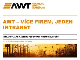 AWT – více firem, jeden intranet