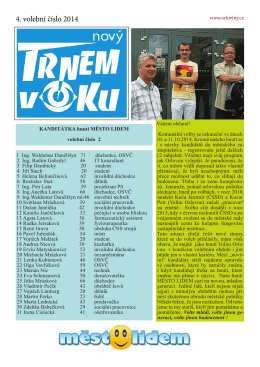 4. volební číslo 2014