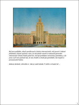 Hotel International a jeho rekonstrukce