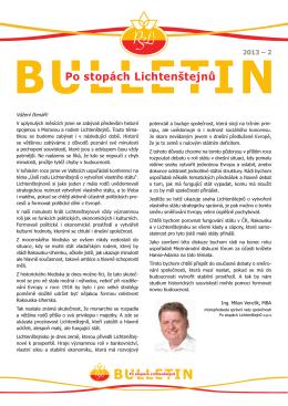 Bulletin Po stopách Lichtenštejnů 2013