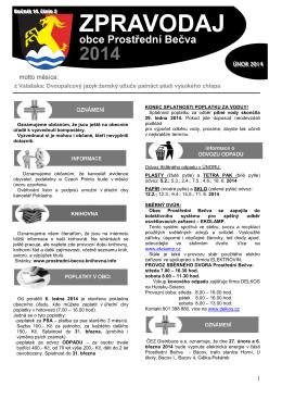 Zpravodaj 02/2014 - Prostřední Bečva