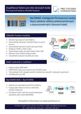 BarDIMM specifikace (PDF)