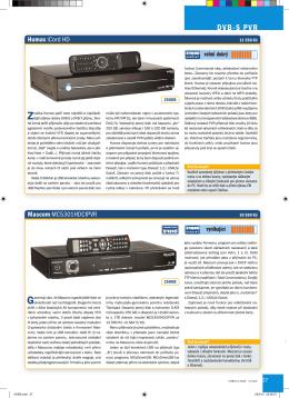 Profil satelitního přijímače Mascom MC5301HD PVR (pdf)