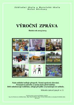 Výroční zpráva 2013/2014 - Základní škola a Mateřská škola Dolní