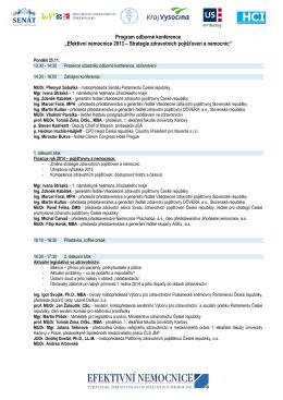 Program odborné konference