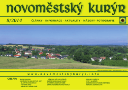 srpen 2014 - Novoměstský kurýr