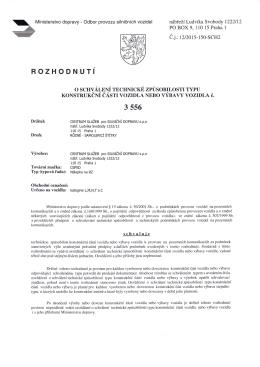 Atest MDČR - Centrum služeb pro silniční dopravu