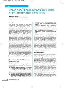 III. část - Zdravotnické právo