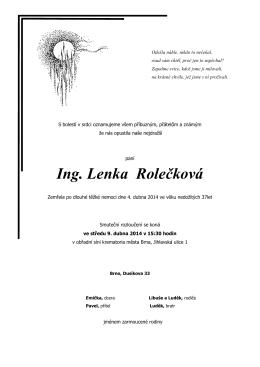 Ing. Lenka Rolečková