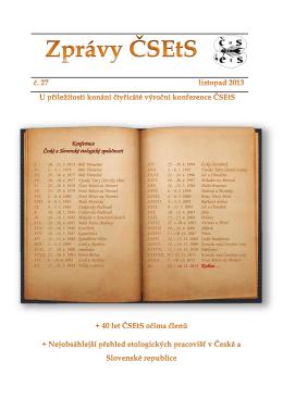 č. 27 (pdf) - Česká a slovenská etologická společnost