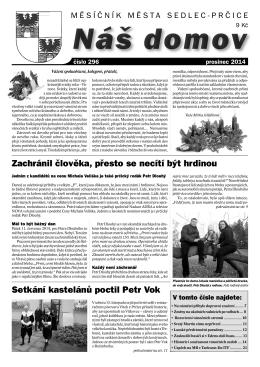 Prosinec 2014 - Město Sedlec
