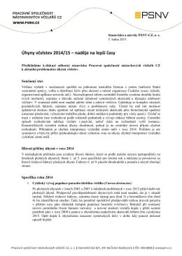 Úhyny včelstev 2014/15 – naděje na lepší časy - PSNV
