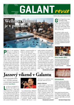 Wellness Galant je v provozu! Jazzový víkend v Galantu