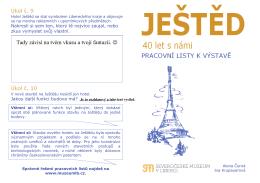 Pracovní list Ještěd - řešení - Severočeské muzeum v Liberci
