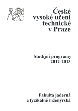 Bakalářské studium - Mathematical Modelling Group