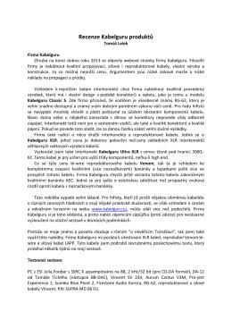 Recenze Kabelguru produktů