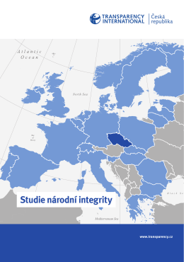 Studie národní integrity - Transparency International