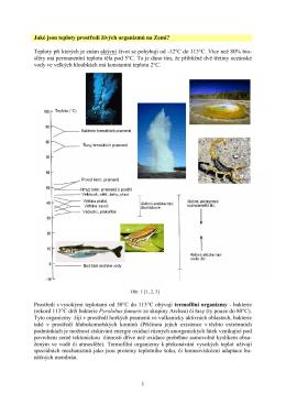 Jaké jsou teploty prostředí živých organizmů na Zemi