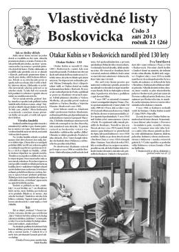 Vlastivědné listy č. 3, 2013