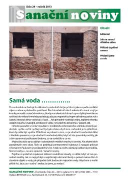 24 / 2013 - Sanační noviny