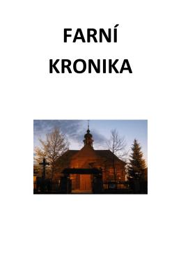 Kronika do roku 2011 - Římskokatolická farnost Velké Karlovice