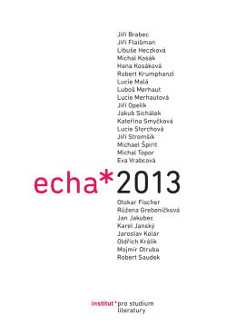 Echa 2013. Forum pro literarni - Institut pro studium literatury
