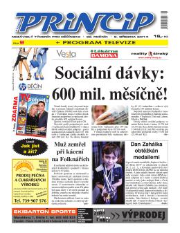 Sociální dávky: 600 mil. měsíčně!