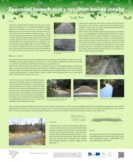 Zpevnění lesních cest s využitím hnědé štěpky