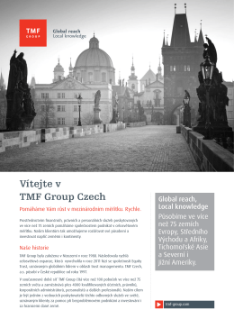 Vítejte v TMF Group Czech