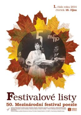 Festivalové listy I/2014