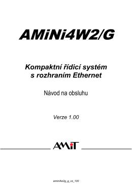AMiNi4DW2/G - návod na obsluhu