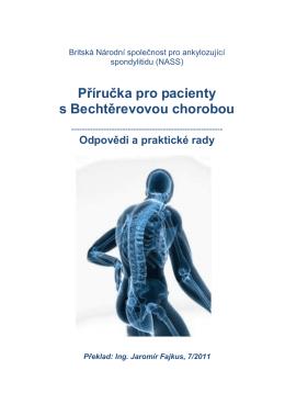 Příručka pro pacienty s Bechtěrevovou chorobou vydaná v roce 2011
