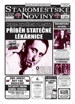 1. - Staroměstské noviny