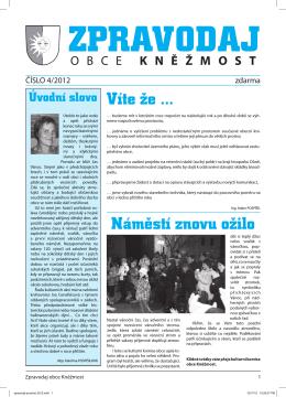 Zpravodaj obce číslo 4/2012