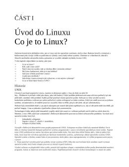 Úvod do Linuxu Co je to Linux?