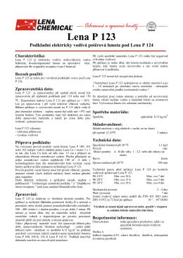 Lena P 123 - Lena Chemical