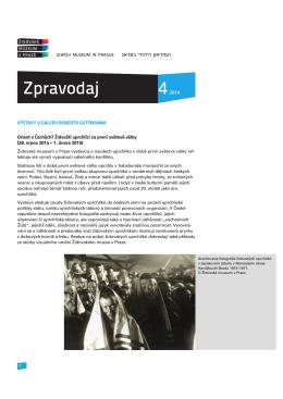 4/2014 - Židovské muzeum v Praze