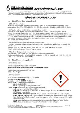 monosal 30 - Precheza, as