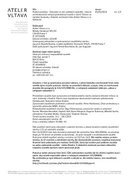 """""""Atelier Vltava s.r.o."""" - Odvolání ve věci vyhlášení výsledků"""