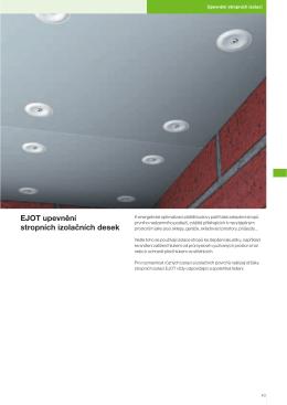 EJOT upevnění stropních izolačních desek