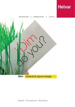 iDim - nenáročná úspora energie