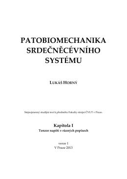 Patobiomechanika srdečněcévního systému