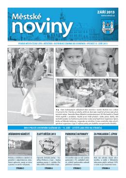 9/2013 Září - Městské noviny Česká Lípa
