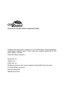 Publikace byla financována z projektu CZ.1.07.2.2.00/07.0053